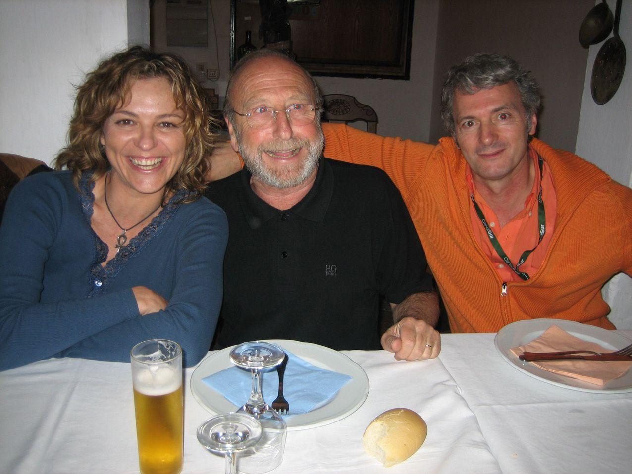 Con el director de cine Sergio Cabrera y Guillermo Summer, miembros del Jurado del Festival de Cine de islantilla