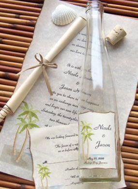 Click Pic for 26 DIY Beach Wedding Ideas - DIY Bottle Invitation ...