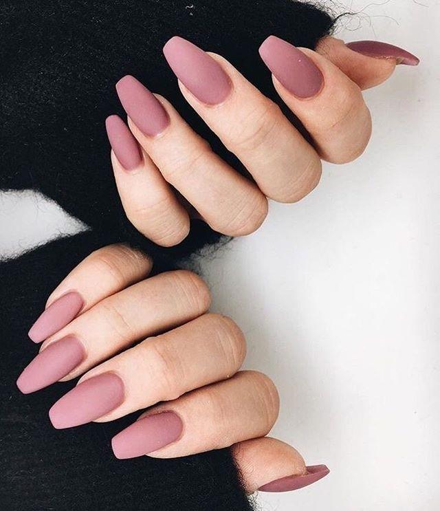 Mauve nail polish #nails #nailart