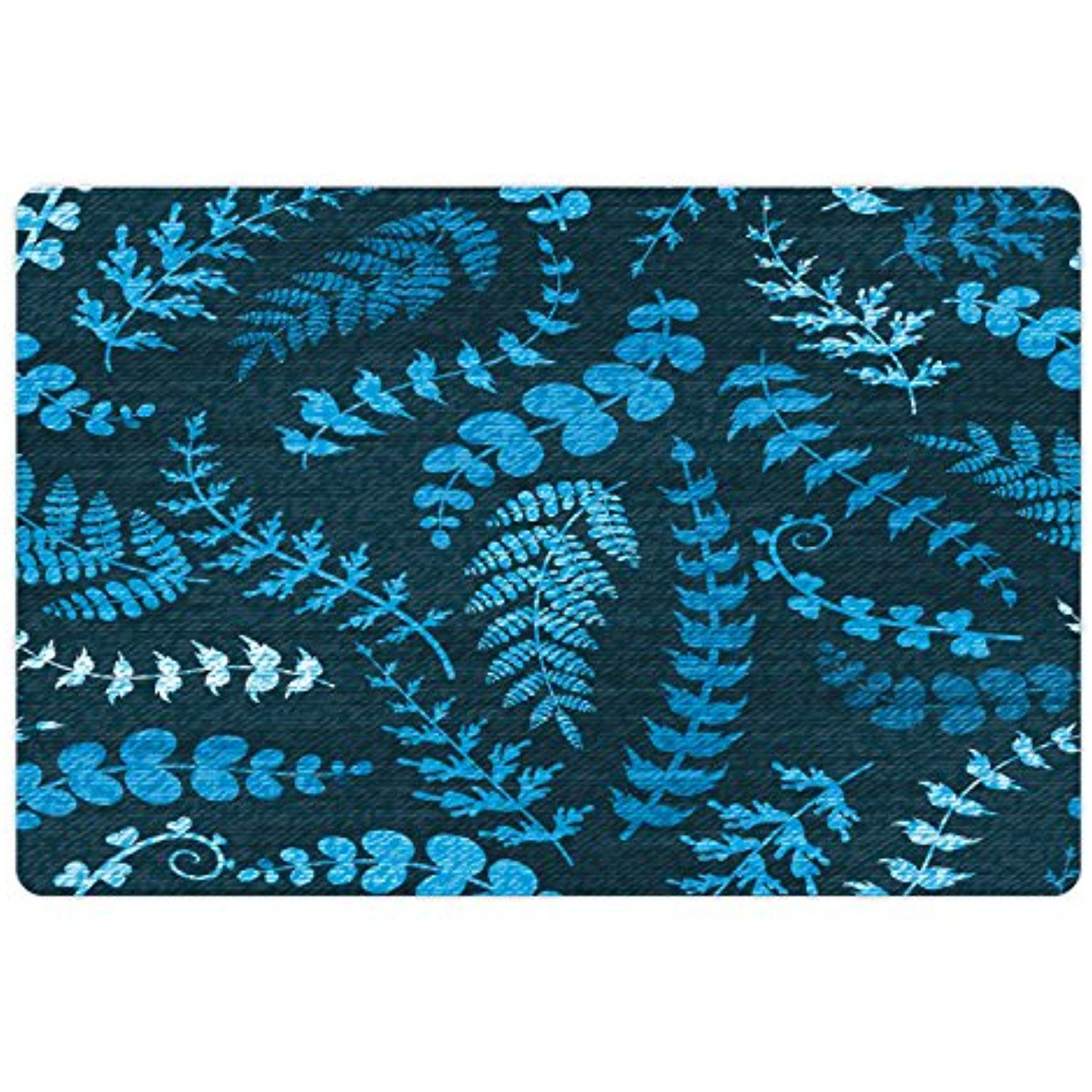 Indigo Pet Mats for Food and Water by Ambesonne, Dark Green Backdrop ...