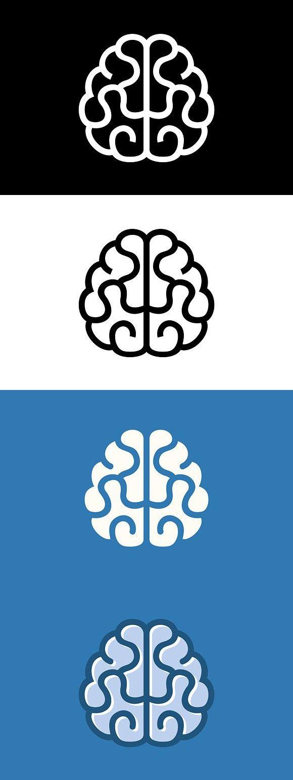 Brain Icon Set. Human Icons. $6.00 | szkola pamieci logo | Pinterest ...