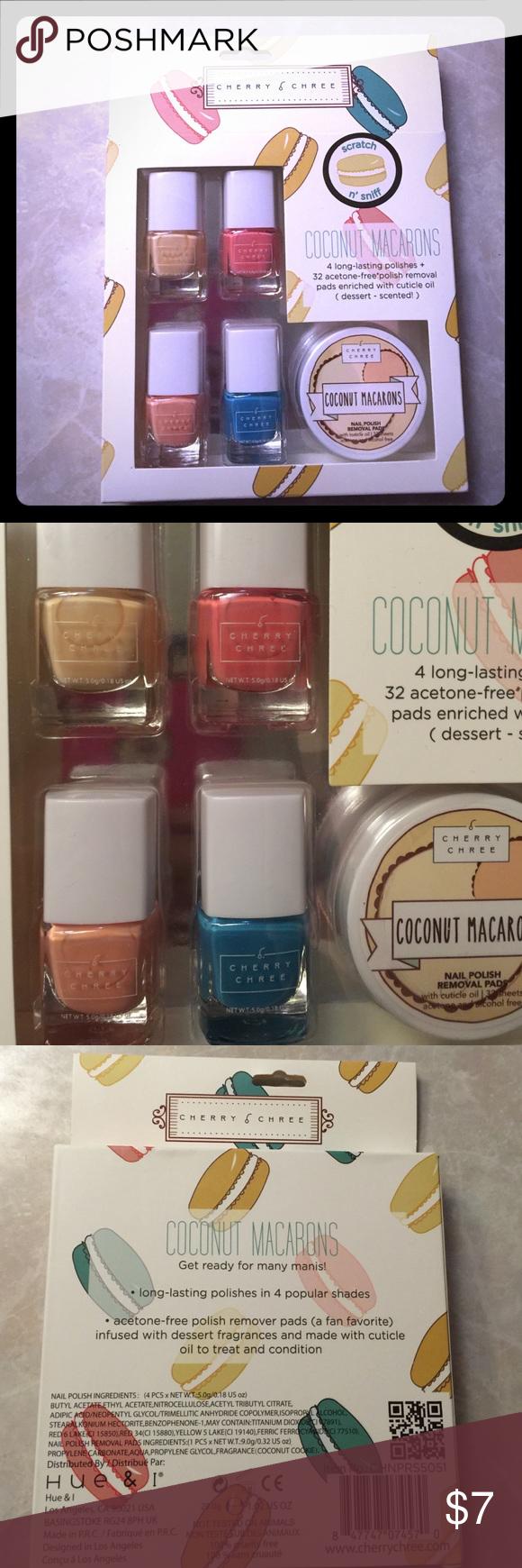New Cherry Chree Nail Polish Set Brand New Coconut Macarons