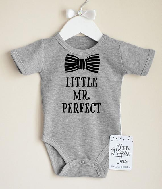 Newborn Baby Onesie Mr Print Romper Bodysuit