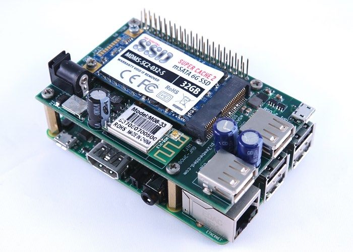 Raspberry Pi 2 Solid State Drive Shield Unveiled By Pi 2 Design - This allows users to add up to 1 TB of extra