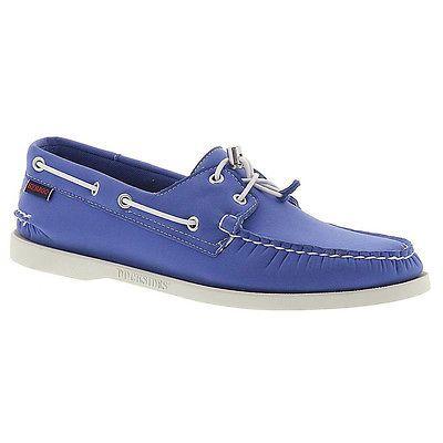 Sebago Docksides Mens B720142-BLUE Neoprene Casual Slip On Boat Shoes Size  9.5