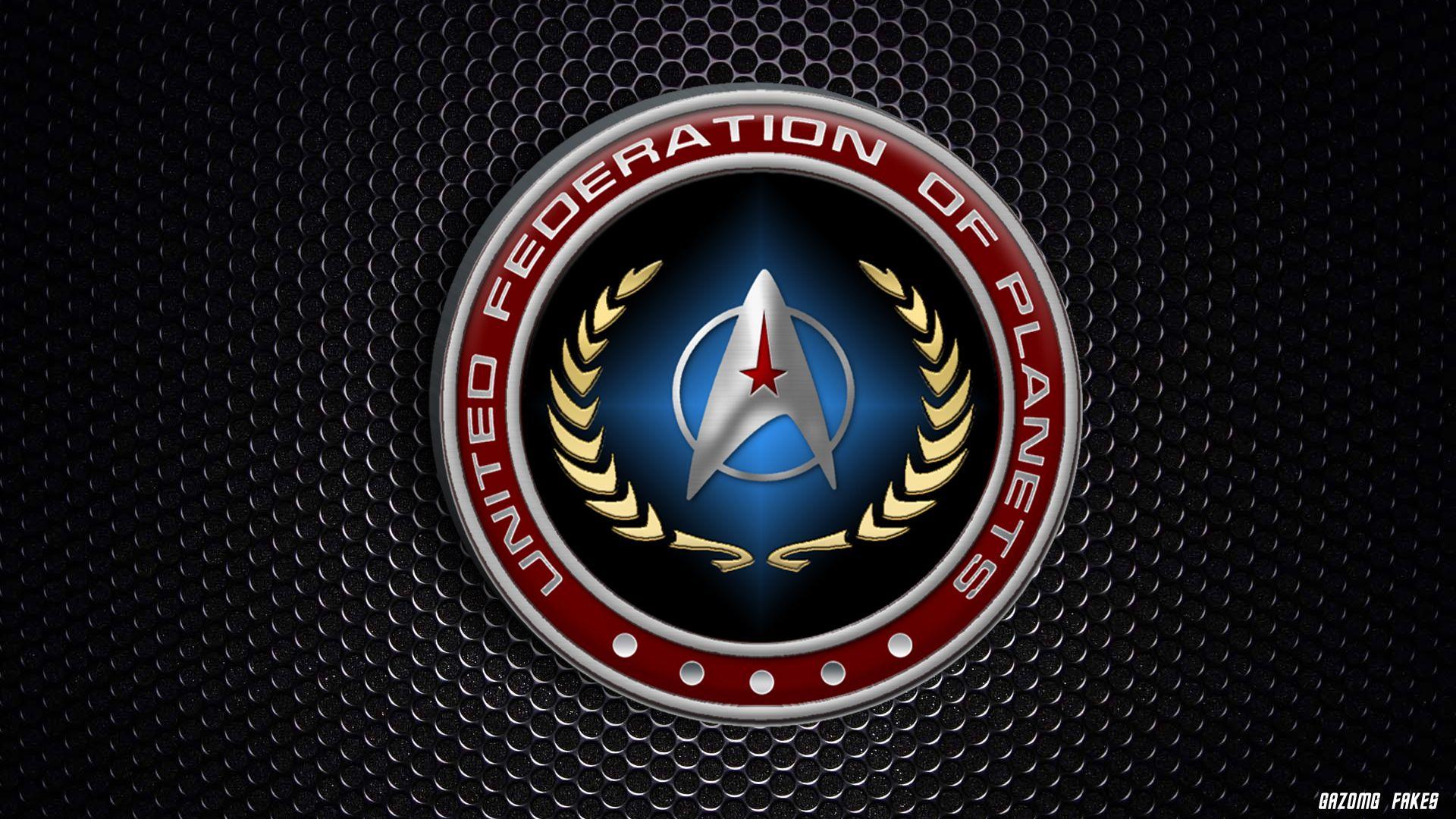 United Federation Of Planets Logo Starfleet By Gazomg On