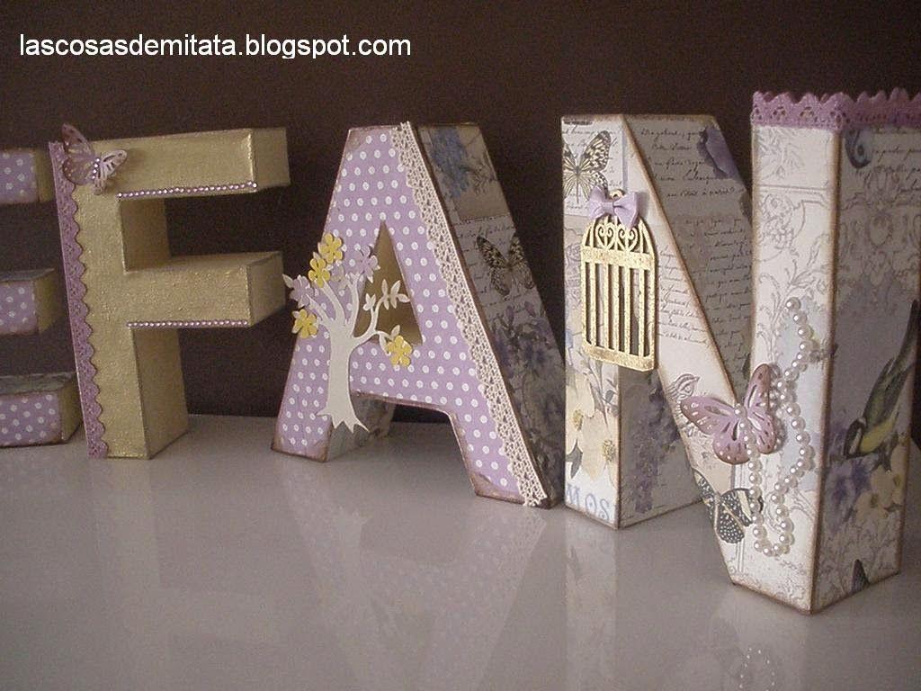 Las cosas de mi tata letras de cart n decoradas letters pinterest letras de cart n letra - Letras de corcho decoradas ...
