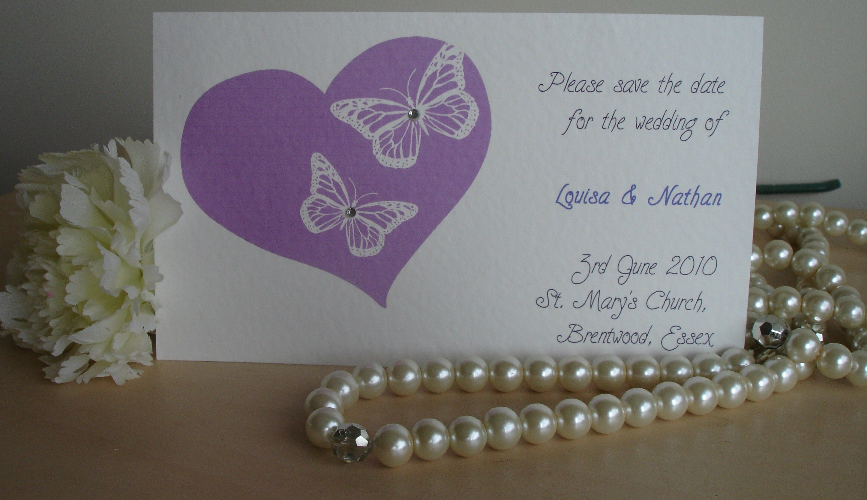 'Butterfly Save the date' by Invitations 4 Occasions