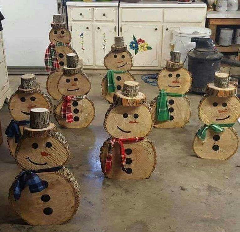 Wooden Snowmen Crafts Pinterest Holiday fun, Wooden snowmen - outdoor snowman christmas decorations