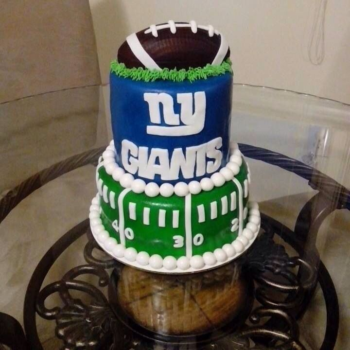 Husband actual cake nygiants New York giants cake party Recipes