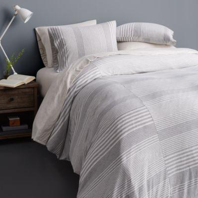 Calvin Klein Modern Cotton Jersey Rhythm Gray Collection Modern Bed Set Bedding Sets Luxury Bedding Sets