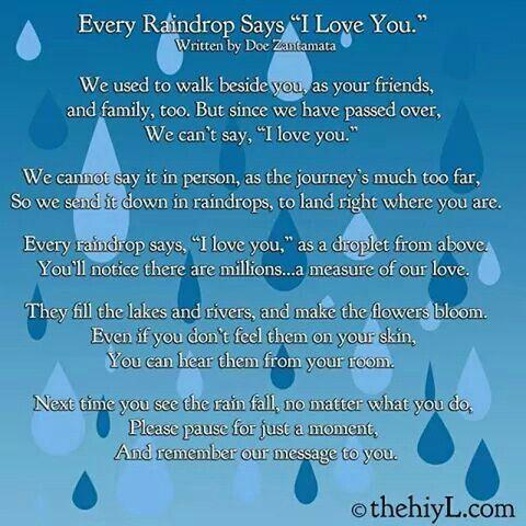 Rain Drops · Rain Drops · Raindrops QuotesSay I Love YouFamous ...