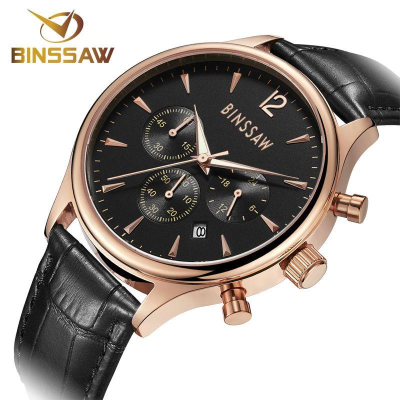 Binssaw fashion watches men top brand luxury quartz watch