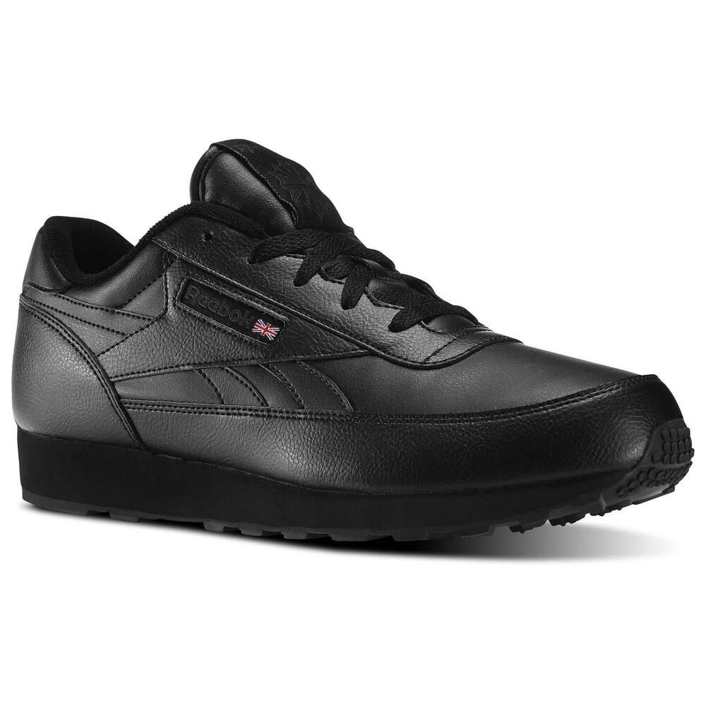 07635f3d8fa0 REEBOK CL RENAISSANCE Leather Classic MENS 4E WIDE Width V67021 Black NEW   Reebok  Athletic