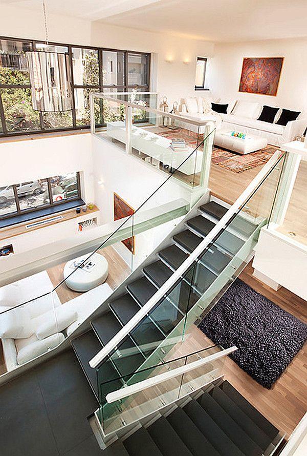 bright loft interior design | Loft interior design, Loft interiors ...
