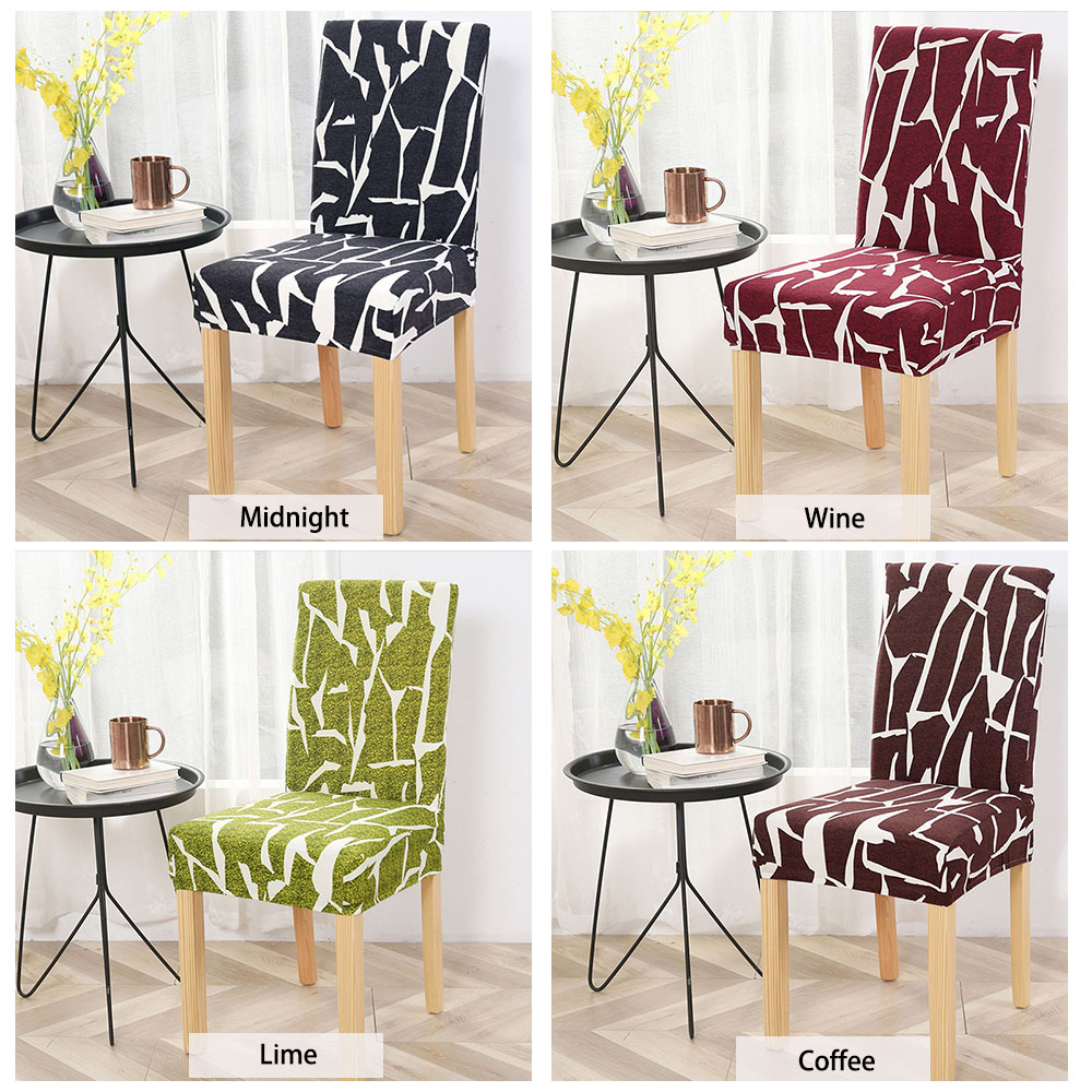 Stretch Printed Design Dining Chair Cover - 24 Color ...