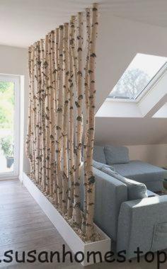 Photo of pic & # 39; s ideeën woonkamer landelijke carrière nieuw: berk in het huis # berk # partitie …