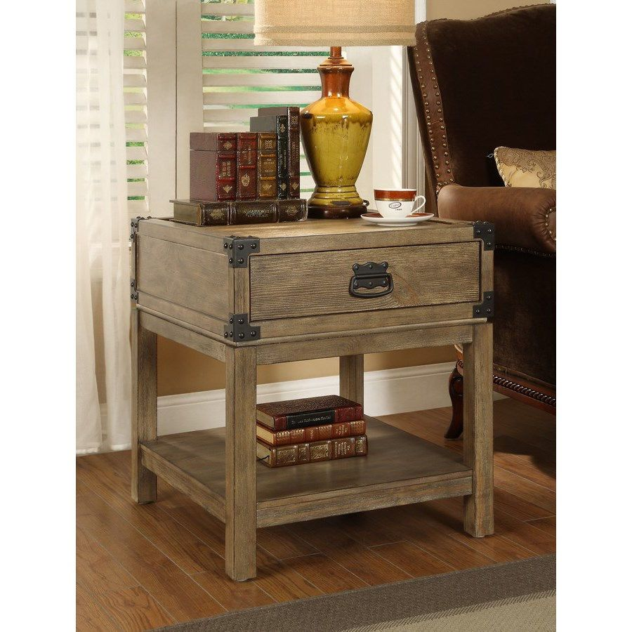 Coast to Coast 67515 Trunk End Table in Caramel Burnished Natural