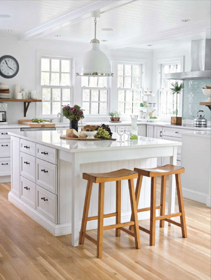 L Shaped Country Kitchen Layout With Large Island Via Decorpad Png 418 554 Pixels Kitchen Layout Country Kitchen Layouts Country Kitchen