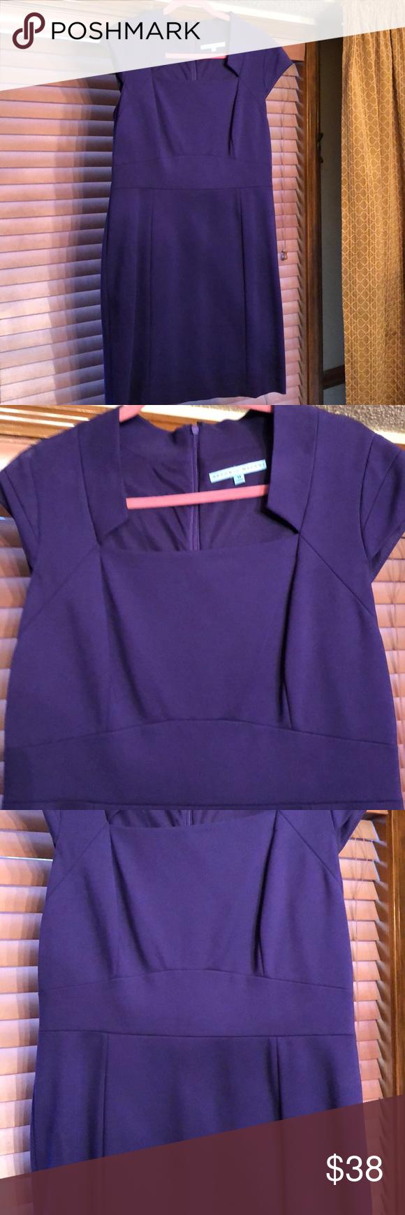 d504919b00c NWT Antonio Melani purple cap Sleeve dress 14 This is a new with tags Antonio  Melani