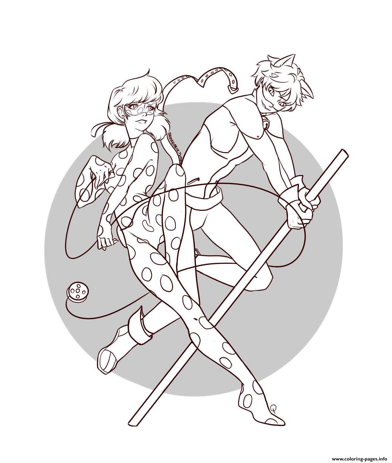 Print Miraculous Ladybug And Cat Noir Team Coloring Pages Ladybug Coloring Page Cool Coloring Pages Cartoon Coloring Pages