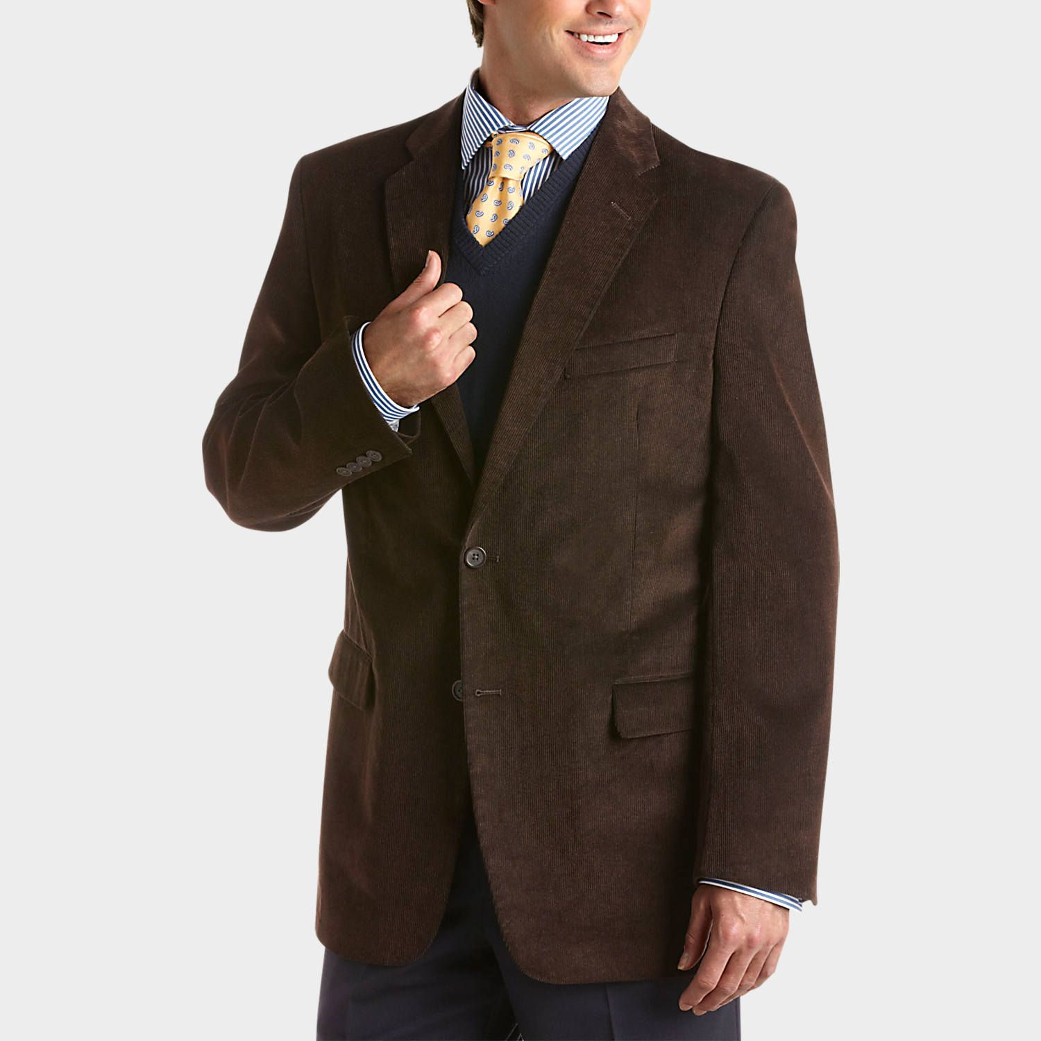 Buy a Pronto Uomo Brown Corduroy Classic Fit Sport Coat and other ...