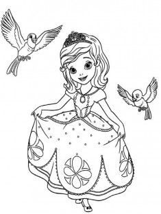 Prenses Boyama Sayfası Coloring Pages Pinterest Coloring Pages