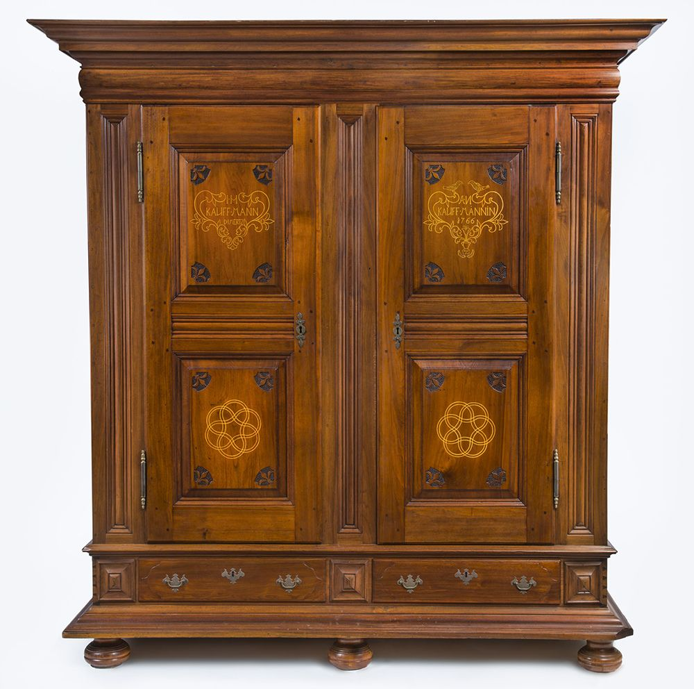 This 1766 Schrank Was Made Using Black Walnut Poplar And Oak Pennsylvania German Sulphur Museum