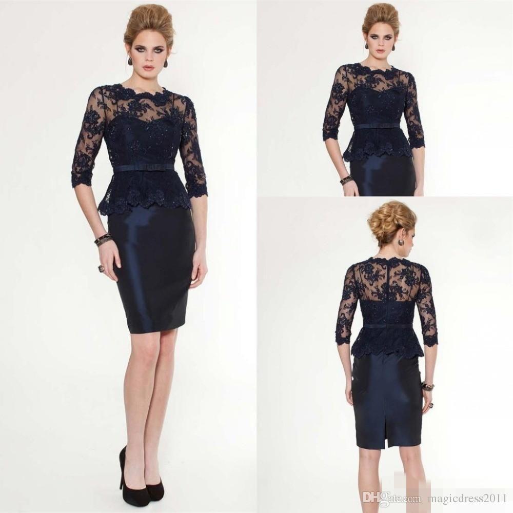 taffeta knee length black dress