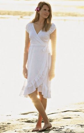 White Linen Dress For Beach Wedding | Dresses and Gowns Ideas ...