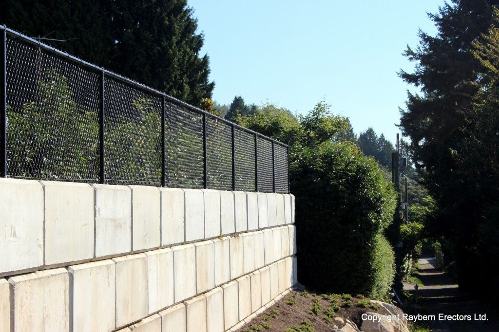 fence using concrete blocks and chain link Google Search