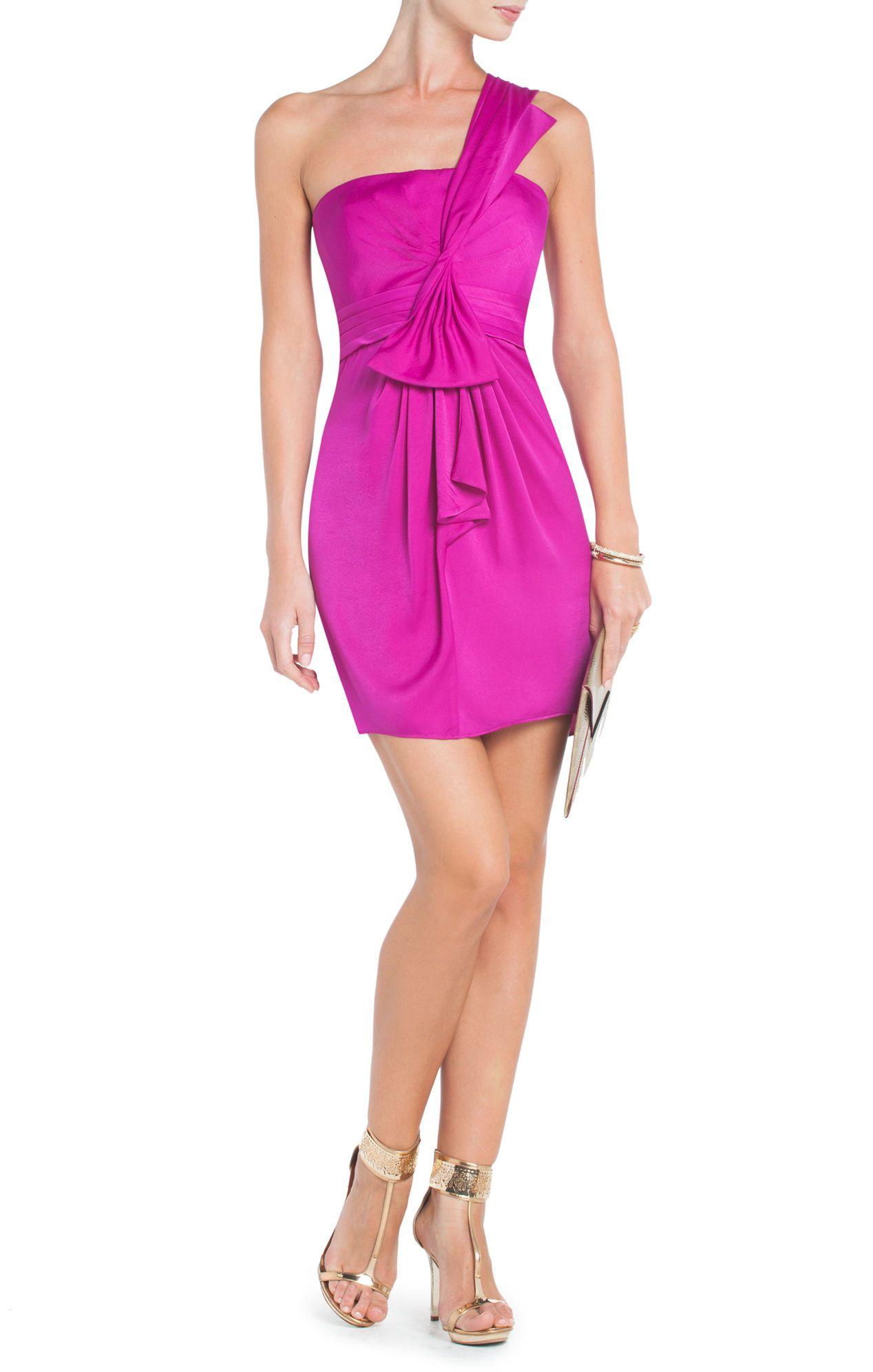 Palais One-Shoulder Cocktail Dress   BCBG   Vestidos   Pinterest ...