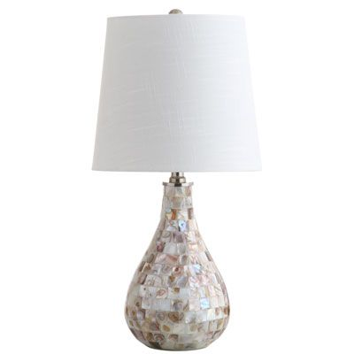 Mona 20 5 mini table lamp seashell by jonathan y