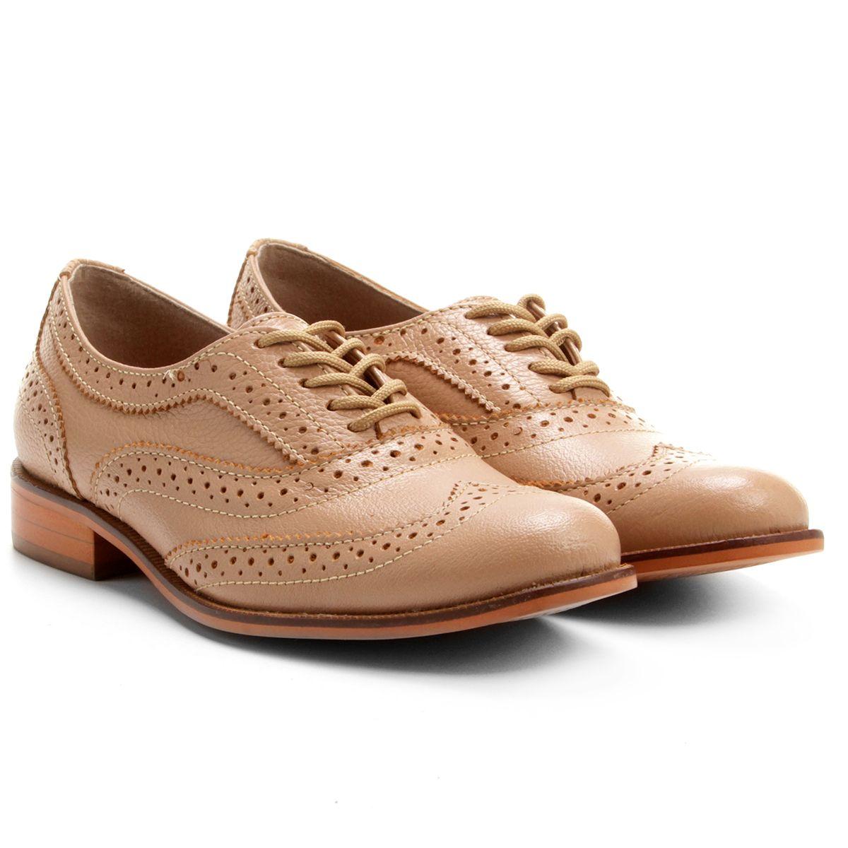 00842bcfc Compre Oxford Santa Lolla Brogues Bege na Zattini a nova loja de moda  online da Netshoes. Encontre Sapatos, Sandálias, Bolsas e Acessórios.