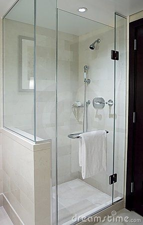 Modern Stand Alone Shower With Glass Doors Bathroom Remodel Shower