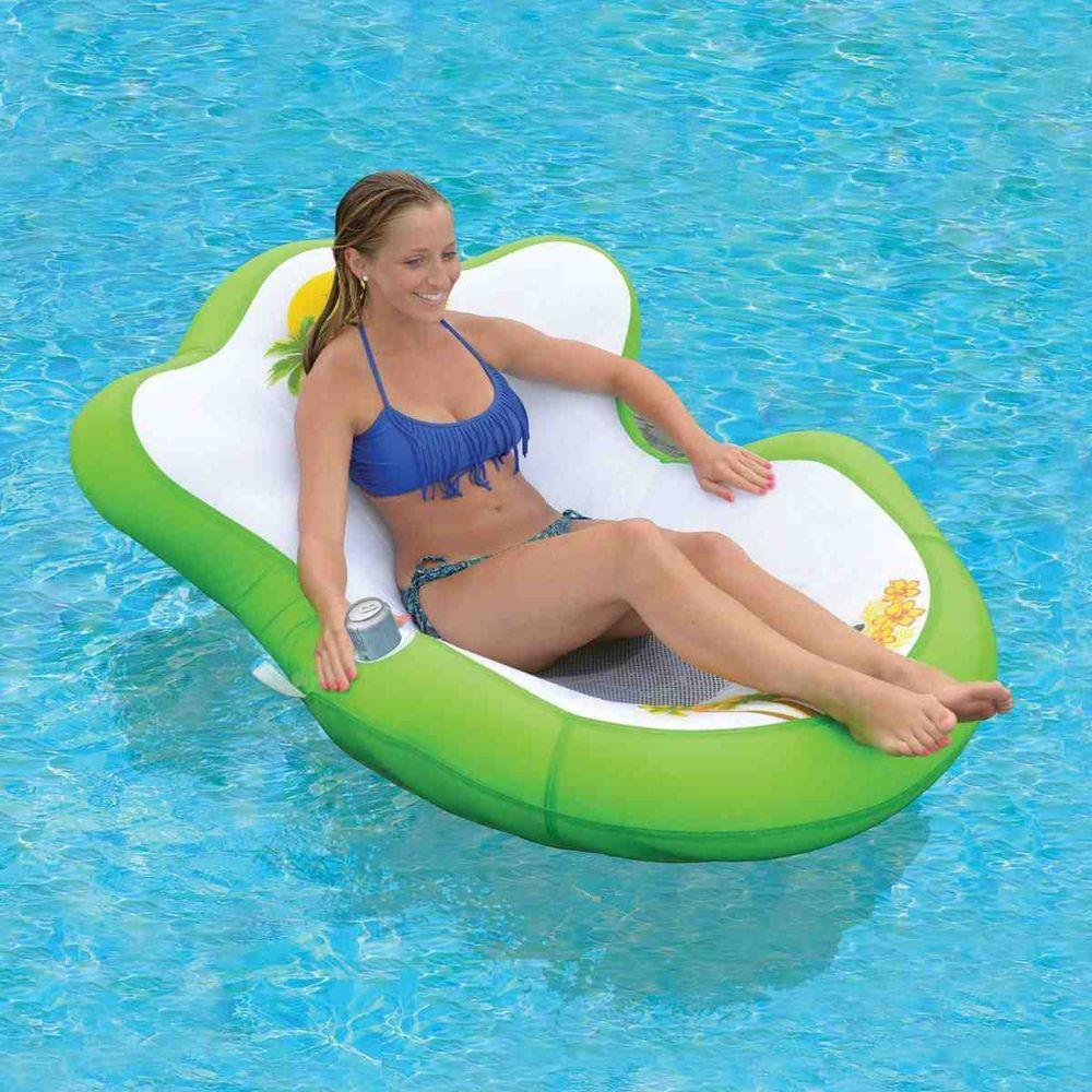 Sun Pleasure Tropical Tahiti Floating Lounge Floating Lounge Pool Pool Float