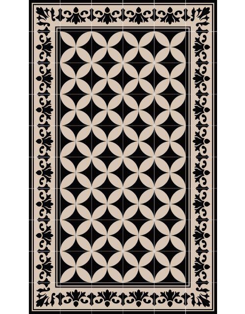So1 Modern Tapis Design Tapis Carreaux De Ciment Vinyle Carreaux De Ciment