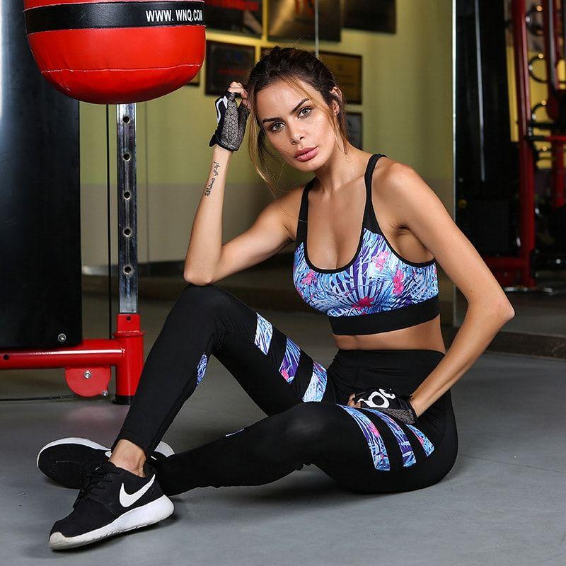 806a59f341 Women's Electric Blue Top and Leggings Sportswear ekkor: 2019 ...