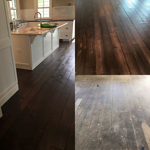 100 Year Old Pine Wood Floors Cleaned