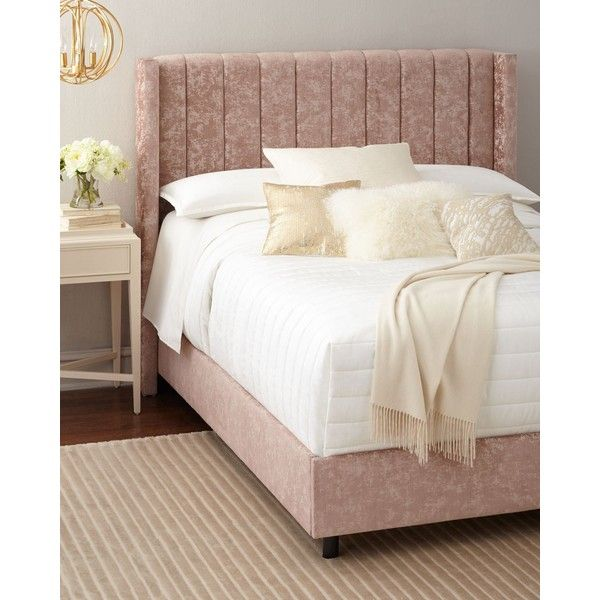 Lotus Channel-Tufted King Bed ($1,699) ❤ liked on Polyvore ...