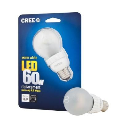 Cree 9 5 Watt 60w A19 Warm White 2700k Dimmable Led Light Bulb 1 Pack Ba19 08027omf 12de26 1u110 At The Hom Dimmable Led Lights Led Light Bulb Light Bulb