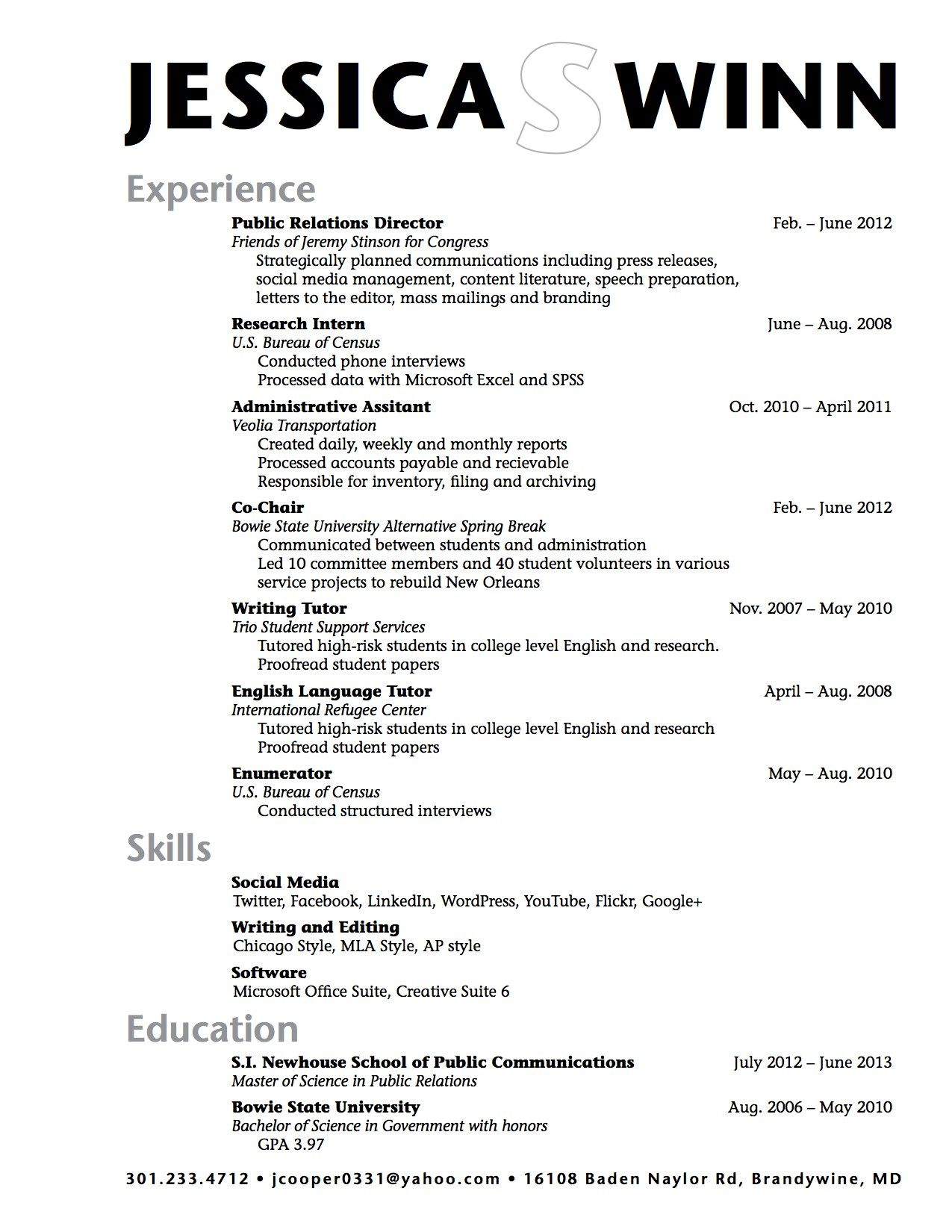Highschool resume examples