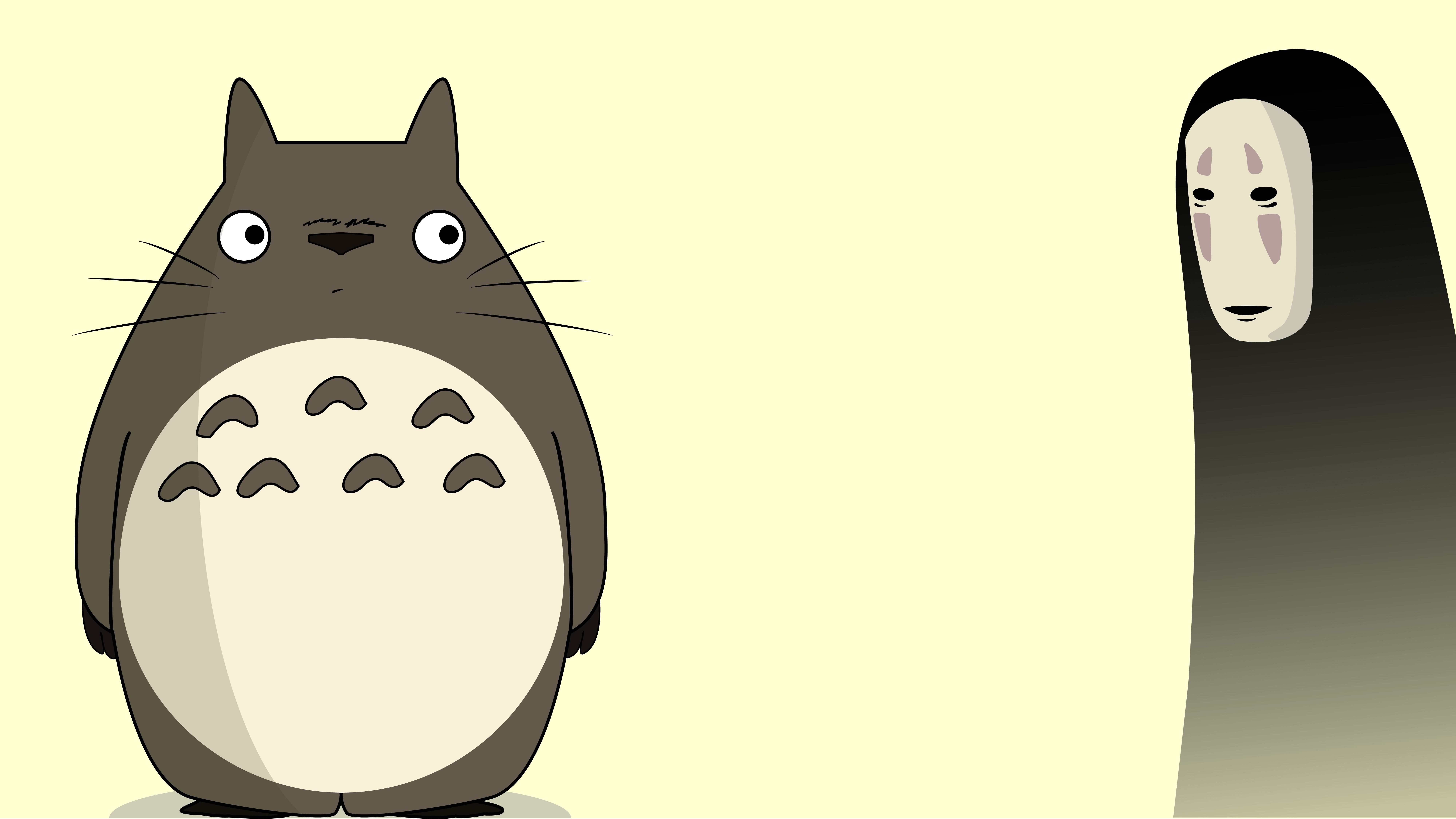 Totoro and Noface wallpaper