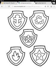 image result for paw patrol shield template   paw patrol badge, paw patrol coloring, paw patrol