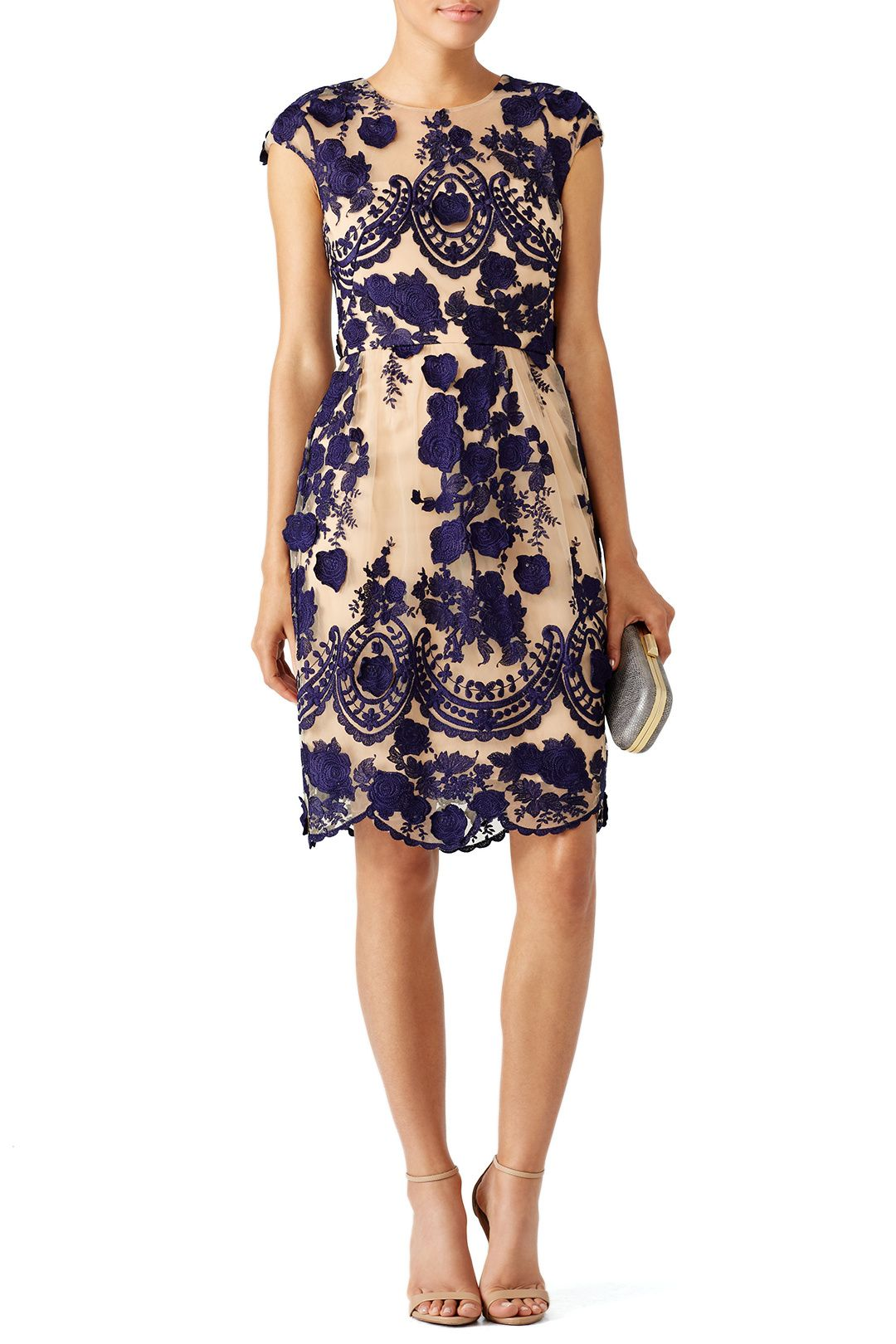 Rent Navy Mena Dress by Marchesa Notte for $125 only at Rent the ...