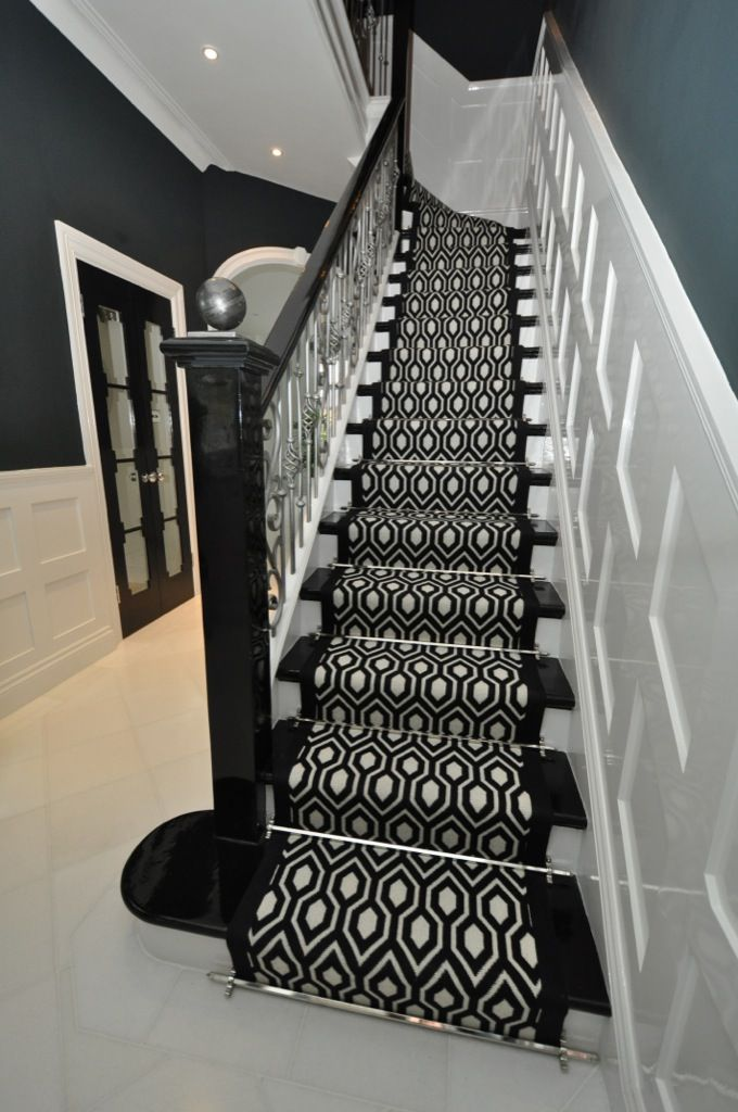 Best Add Glamour With Chrome Stair Rods Stair Runner Stair 400 x 300