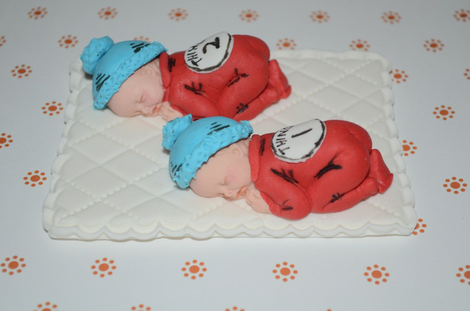 Thing 1 and Thing 2 baby cake topper by DreamDayShoppe on Etsy ...