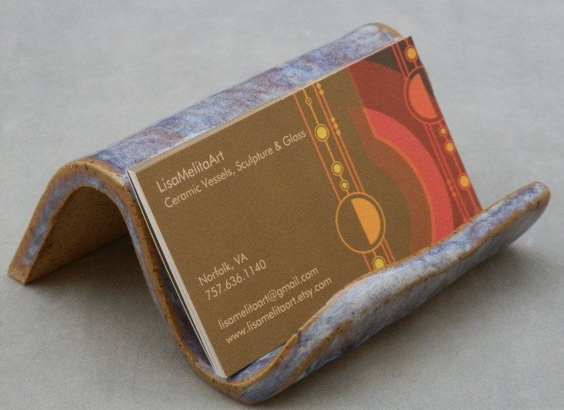 Business card holder pottery b i z c a r d s pinterest business card holder pottery reheart Gallery