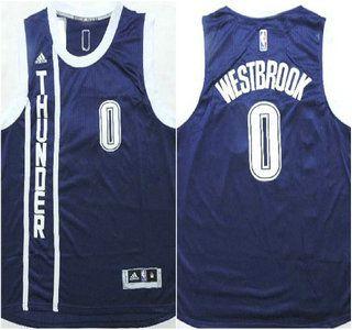 Oklahoma City Thunder Jersey 0 Russell Westbrook Revolution 30 Swingman  2014 New Navy Blue Jerseys bf4c7b2e6