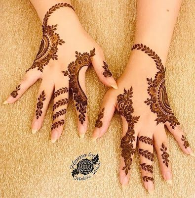 75+ Latest arabic mehndi designs for hands #hennadesigns